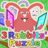 Rompecabezas de 3 conejos