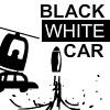 Coche blanco negro