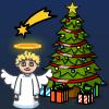 Ángel de Navidad móvil