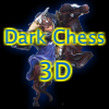 Ajedrez oscuro 3d