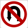 No U Turn Sign Jigsaw