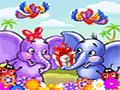 Elefante trompita: Flores de cumpleaños