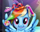 Rainbow Pony Real cortes de pelo